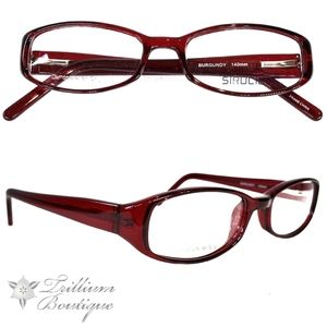 Structure 93 Women's Burgundy Glasses Frames